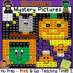Halloween hundreds chart hidden pictures are a great addition to this wonderful holiday season. Great for a math lesson. Use it in a learning center or in a whole group lesson.