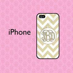 Monogram iPhone 5S Case  iPhone 4 Case  by pinkblossomdesign