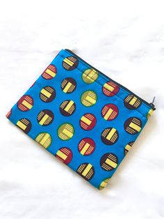 Small African Print Make-Up Pouch by dstonedesigns on Etsy