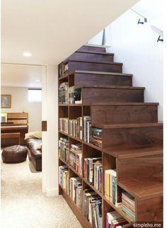 Love staircase storage ideas