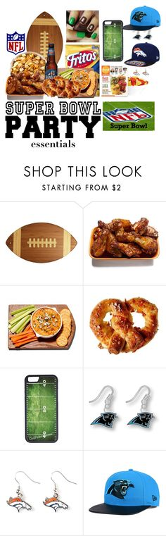 """""""Game On! Super Bowl Party- Contest Entry"""" by unicornlover6280 ❤ liked on Polyvore featuring interior, interiors, interior design, home, home decor, interior decorating, Totally Bamboo, CellPowerCases, aminco and New Era"""