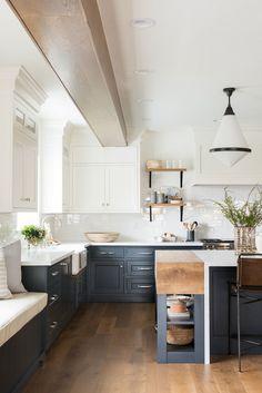 Modern kitchen - Northridge Remodel The Kitchen + Dining Nook – Modern kitchen Home Decor Kitchen, Interior Design Kitchen, Kitchen Furniture, Diy Kitchen, Kitchen Cabinets, Kitchen Ideas, Kitchen Hacks, Kitchen Layout, Rustic Kitchen