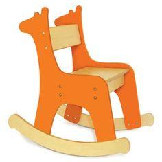 Pkolino Safari Collection - Giraffe - Toddler Rocking Chair - Orange - PKFFRCORG