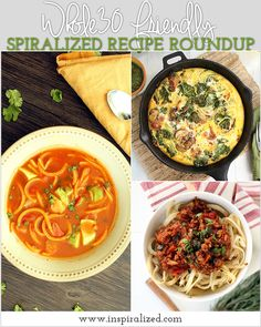 Whole30 Friendly Spiralized Recipe Roundup