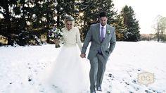Stephanie and Corey's snowy November wedding at Perona Farms.  #wedding #snow #bride #groom #PeronaFarms
