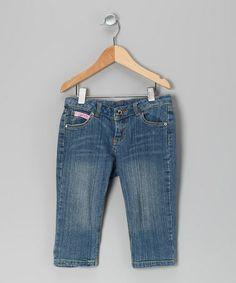 Take a look at this Denim Rain of Colors Cropped Jeans - Toddler & Girls by Lipstik Girls on #zulily today!