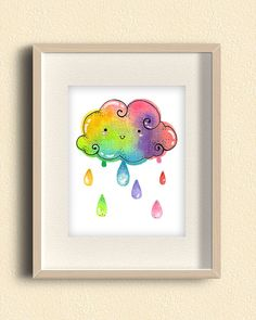 Hey, I found this really awesome Etsy listing at https://www.etsy.com/listing/196216377/rainbow-cloud-raindrops-illustration
