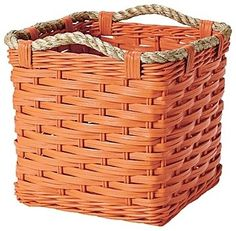 Rope Cubby, Orange contemporary baskets