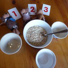 Goldilocks and the 3 Bears- A Preschool STEM activity - Rabbit Ideas Fairy Tale Activities, Preschool Science Activities, Rhyming Activities, Preschool Education, Stem Science, Bears Preschool, Nursery Rhymes Preschool, Kindergarten Math Games, Literacy