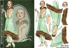 Deco Green Silk Pyjama Suit Fashion Reflection Decoupage