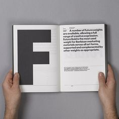 opening spread for each letter, FFFFOUND!