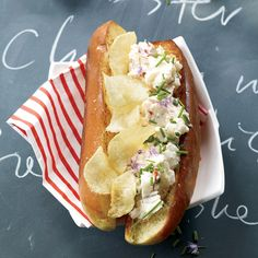 Jon Shook and Vinny Dotolo of L.A. seafood shack Son of a Gun love adding potato chips to sandwiches—like these deluxe Tabasco-spiked lobster rolls.
