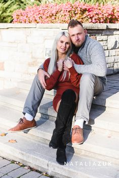 For the fall pictures, any clothes in shades of yellow, orange, red, purple, and light brown would look great. I love how his grey outfit complements her vivid dress. Fall Pictures, Fall Photos, Orange Red, Red Purple, Grey Outfit, Shades Of Yellow, Engagements, Photo Sessions, Looks Great