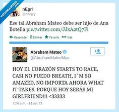 Abraham Mateo debe ser hijo de Ana Botella.