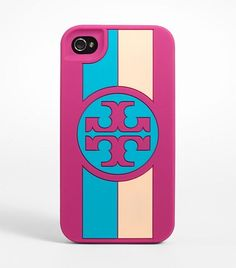 my phone needs this! // Tory Burch silicone phone case in orchid pink multi