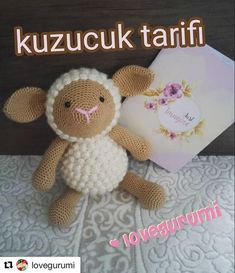 with ・・・ Tarif defterim de hemen yanibasind… - Amigurumi Models Amigurumi Patterns, Amigurumi Doll, Eco Friendly Toys, My Notebook, Crochet Animals, Crochet Dolls, Handmade Toys, Pet Toys, Kids And Parenting