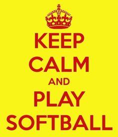 Keep Clam And Play Softball