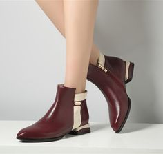 76.66$  Watch now - http://aliexn.worldwells.pw/go.php?t=32458567460 - Women flat heel half short ankle boots autumn winter botas fashion platform genuine leather footwear boots shoes 9229 size 35-42 76.66$
