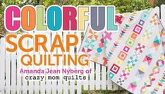 Showcase classic blocks in one gorgeous scrap quilt! Get step-by-step guidance through fun flying geese, playful orange slice appliqués and much more. #BuyFabricOnline Quilts Online, Fabric Online, Amanda Jean, Scrap Quilt Patterns, Quilting Ideas, Quilting Classes, Quilt As You Go, Crazy Mom, Easy Quilts