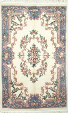 NEW CONTEMPORARY PERSIAN KERMAN AREA RUG 51135 - AREA RUG   This beautiful Handmade Knotted Rectangular rug is approximately 5 x 8 New Contemporary area rug from our large collection of handmade area rugs with Persian Kerman style from China with Wool  Area rug Houston