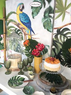 tropical mood in our store Cosy Decor, Lisbon, Tropical, Table Decorations, Design, Painting, Mood, Store, Artificial Plants