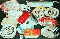 Drawing of sushi from 1877