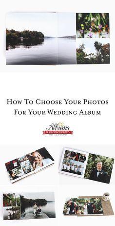 32 best diy wedding album design images on pinterest diy wedding how to choose wedding photos for your wedding album solutioingenieria Choice Image