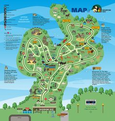 Singapore Zoo- if I ever stopover in Singapore again, must go here! Singapore Map, Singapore Guide, Singapore Sling, Visit Singapore, Singapore Malaysia, Zoo Map, Tourist Map, Holiday Time, Family Holiday