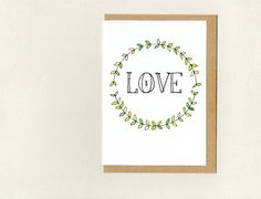 LOVE . greeting card . art card . wedding valentines