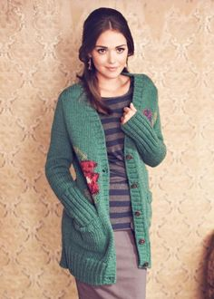 People Tree | Jacquard Flower Cardigan