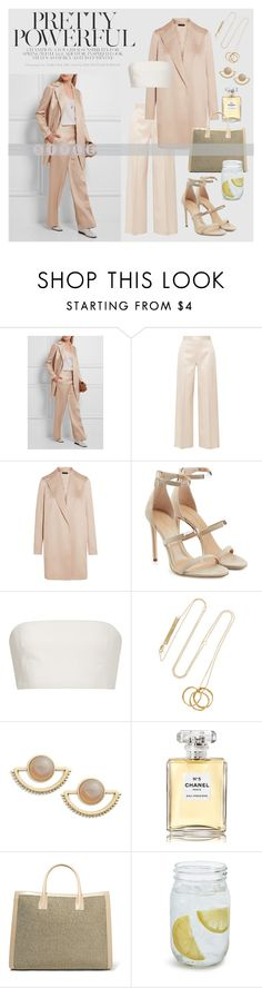 """""""Summer work attire"""" by inthenude ❤ liked on Polyvore featuring The Row, Tamara Mellon, Katie Ermilio, Cornelia Webb, T+C by Theodora & Callum, Chanel, AERIN and Sur La Table"""