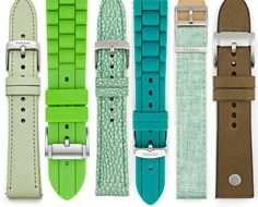 Happy St. Patrick's Day! In honor of our favorite hued holiday, here are some green interchangeable watch straps that are just the right amount of color to keep you from getting pinched! #fossilstyle