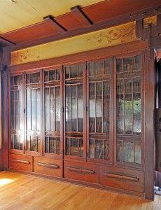 Thorsen House in Berkeley: built-in bookcases