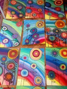 Kandinsky Art For Kids Style 31 Best Ideas Rainbow Crafts, Rainbow Art, Kindergarten Art, Preschool Art, Art Floral, Art 2nd Grade, Club D'art, Art Kandinsky, Arte Elemental