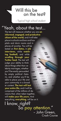 Let's prepare students for the REAL test.