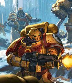 Imperial Knight, Imperial Fist, Warhammer 40k Art, Warhammer Fantasy, Space Marine, Space Armor, Marine Tattoo, Orks 40k, Arte Cyberpunk