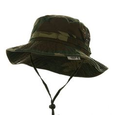 2ba9a6d4c40 MG Men s Washed Cotton Twill Chin Cord Outdoor Hunting Hat at Amazon Men s  Clothing store  Bucket Hats