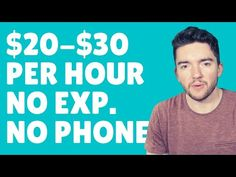 $20-$30/Hour Worldwide Work-From-Home Jobs No Experience No Phone 2021 Work From Home Careers, Video Notes, Online Earning, It Works, Phone, Telephone, Nailed It, Mobile Phones