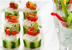 Cute and healthy cucumber cups (great for kids or a party appetizer!)