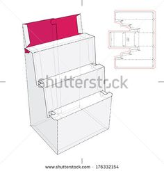 Point of Product Display Stand with Blueprint  - stock vector