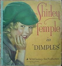 """1936 SHIRLEY TEMPLE MOVIE """"DIMPLES"""" BOOK"""