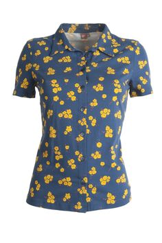 Blouse Tortilla in navy, SS0015 Who's That Girl