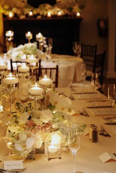 wedding ivory champagne gold candles - Google Search