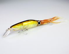 1pcs 14cm 40g Hard Trolling Fishing LureS For Saw Water Fishing Rig Minnow Squid Diving Hook Size 3d