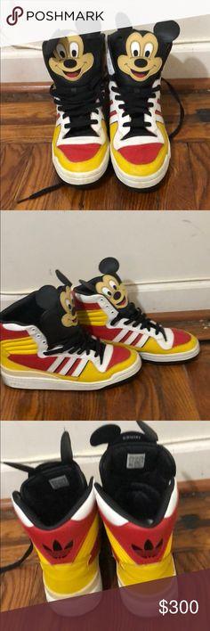 Jeremy Scott X adidas Originals Mickey sneakers Rare Jeremy Scott X adidas  Originals by Originals 2010 ab14ccdbb