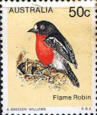 Australia 1978 Flame Robin Fine Mint SG 679 Scott 718 Other Australian Stamps HERE