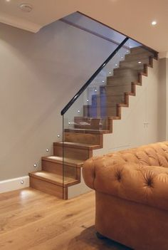 Tag Architects - Victorian Terraced Townhouse in Primrose Hill, North-West London, Simple, clean, functional. Staircase Railings, Banisters, Stairways, Cellar Conversion, Glass Stairs, Stair Landing, Stair Lighting, Modern Stairs, Victorian Terrace