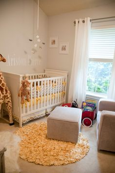 Boy nursery- but with blue and white instead of yellow