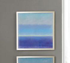 Color Block Horizon Framed Print #potterybarn