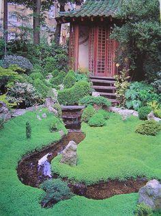 Jardim Japonês para meditação.